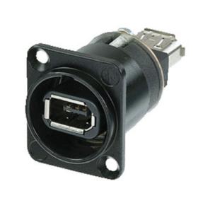 Neutrik Firewire Chassis FireWire 6 met IEEE 1394 6-polige aansluitingen, zwarte behuizing