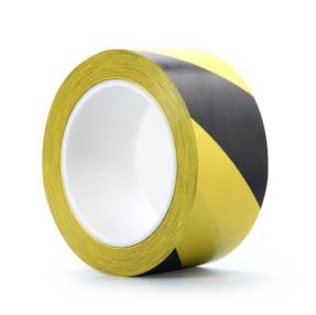 Showtec Vloermarkering Tape 33m rol 50mm geel/zwart