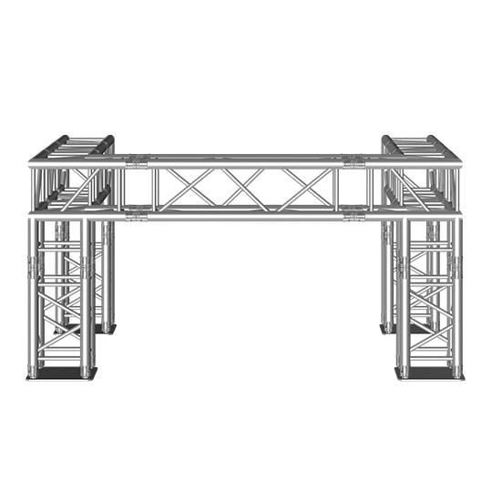 DJ-booth vierkant 2x1,5x1 m