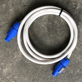 Tweedehands Neutrik Powercable wit Neutrik Powercon 2,5m 3x 2,5mm2