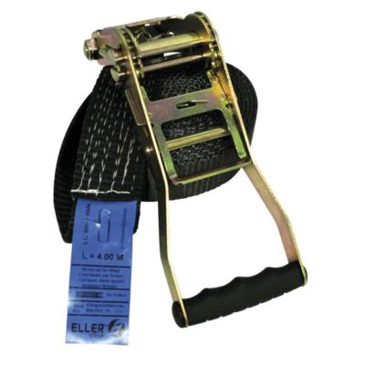 ELLER sjorband ratel 1 delig lengte 5m - 35mm WLL 3T zwart