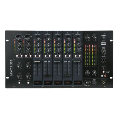 "DAP-Audio IMIX-7.2 USB 7-kanaals 6U zone mengpaneel 19"" inch"