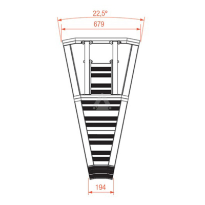 Prolyte StageDex barrier 22,5 graden binnenhoek