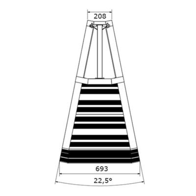 Prolyte StageDex barrier 22,5 graden buitenhoek