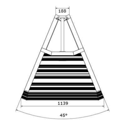 Prolyte StageDex barrier 45 graden buitenhoek
