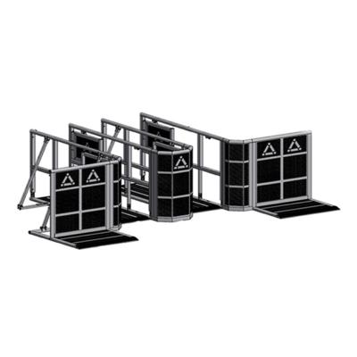 Prolyte StageDex barrier schoor voor oplijnhek