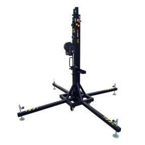 Fantek T104D Wind-Up top load statief 1,73 - 5,30m 200kg zwart