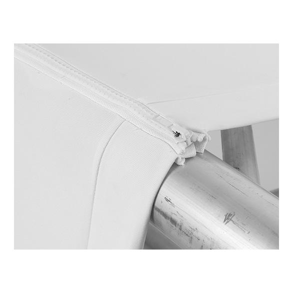 Lycra truss-sleeve stretch 200cm wit met ritssluiting voor 30-er truss