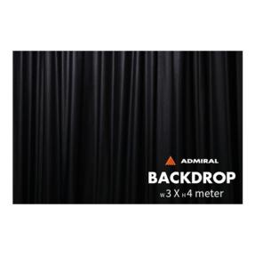 Admiral Backdrop 320 gram/m² 3m (b) x 4m (h) zwart