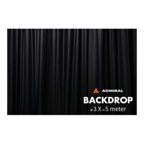 Admiral Backdrop 320 gram/m² 3m (b) x 5m (h) zwart
