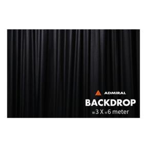 Admiral Backdrop 320 gram/m² 3m (b) x 6m (h) zwart
