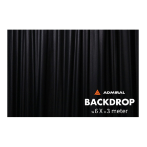 Admiral Backdrop 320 gram/m² 6m (b) x 3m (h) zwart