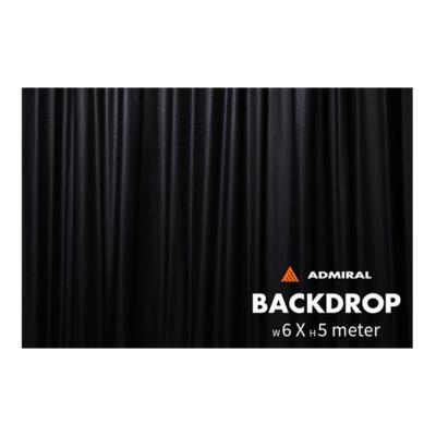 Admiral Backdrop 320 gram/m² 6m (b) x 5m (h) zwart