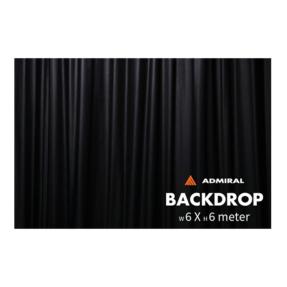 Admiral Backdrop 320 gram/m² 6m (b) x 6m (h) zwart