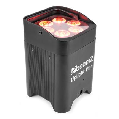 BeamZ BBP96 accu LED PAR 6X 12W 6-in-1 RGBAW-UV