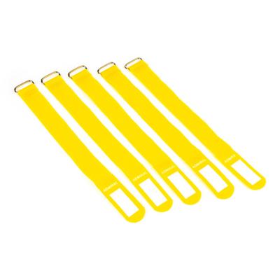 Admiral cable wrap 26cm geel (5 stuks)