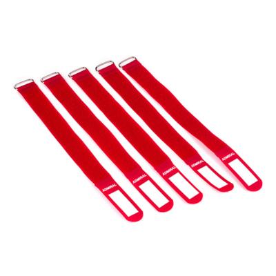 Admiral cable wrap 26cm rood (5 stuks)