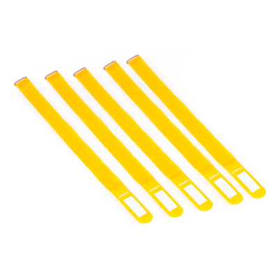 Admiral cable wrap 38cm geel (5 stuks)