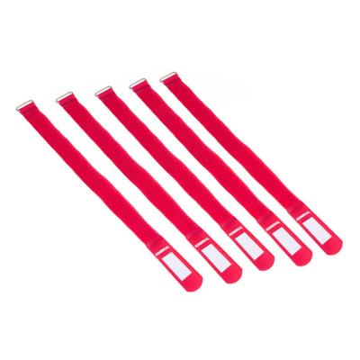 Admiral cable wrap 38cm rood (5 stuks)