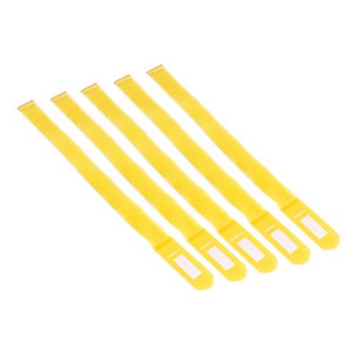Admiral cable wrap 55cm geel (5 stuks)