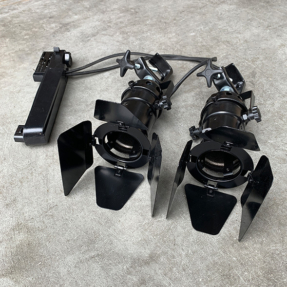 Tweedehands Showtec Par 16 GU5.3 - 3 fase railspot incl. filterframe zwart