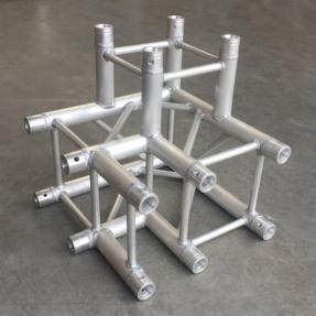 Tweedehands Multitruss F34C30 vierkant 3-weg hoek special links ladder (Global Truss compatibel)