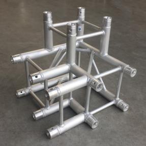 Tweedehands Multitruss F34C30 vierkant 3-weg hoek special rechts ladder (Global Truss compatibel)