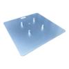 Universele truss baseplate staal 73 cm - 6mm dik verzinkt