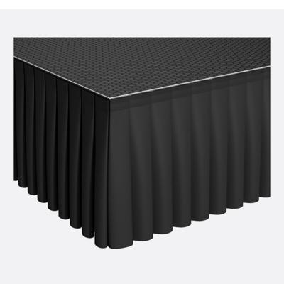 Power Dynamics Podiumrok Velours-Look Geplooid 6m x 40cm