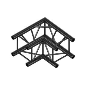 Milos QCF21 truss vierkant 90 graden 2-weg hoek zwart
