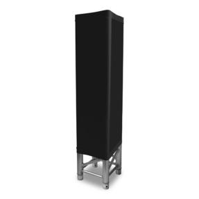 Lycra truss-sleeve stretch 100cm zwart met ritssluiting voor 30-er truss