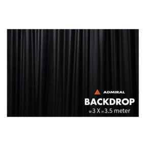 Admiral Backdrop 320 gram/m² 3m (b) x 3,5m (h) zwart