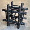 Tweedehands Eurotruss FD34-X truss vierkant 4-weg kruis 50x50 cm zwart