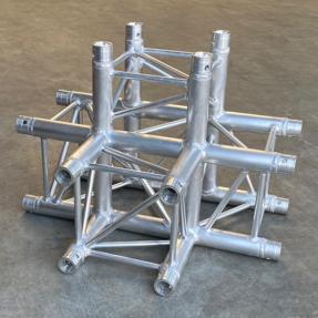 B-stock P34 truss vierkant P34-C020 4-weg T-stuk