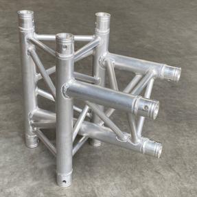 Tweedehands Global Truss F33T39 driehoek 3-weg t-stuk apex up verticaal (Multitruss compatible)