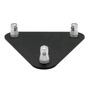 Baseplate voor Prolyte truss driehoek BASE-30D zwart