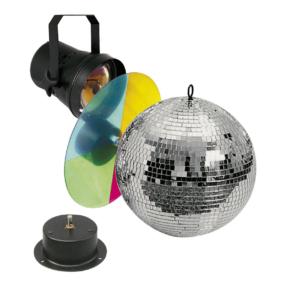 Showtec Spiegelbol set - spiegelbol ø20 cm