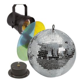 Showtec Spiegelbol set - spiegelbol ø30 cm