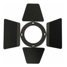 Showtec Barndoor voor Compact Studio Beam zwart