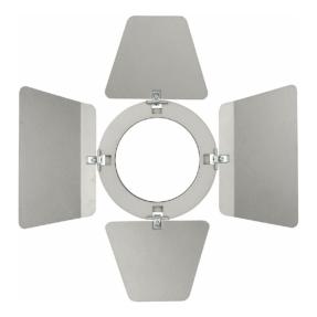 Showtec Barndoor voor Compact Studio Beam zilver