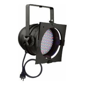 Showtec Par 64 RGB LED spot - kort zwart