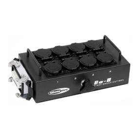 Showtec BO-8-S1 stroomverdeler multiconnector 16-polig naar 8x Schuko