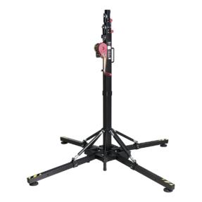 Showtec LT-150/5 Wind-Up top load statief 1,75 - 5,3m 150 kg zwart