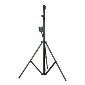 Showtec Wind-Up lichtstatief  1,76 - 3m 20kg zwart