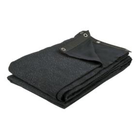 Showtec Glamourmolton Backdrop 400 gram/m² 3m (b) x 3m (h) zwart