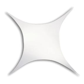 WENTEX® Stretch Shape vierkant stretchdoek 250 cm x 250 cm - wit