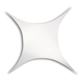 WENTEX® Stretch Shape vierkant stretchdoek 125 cm x 125 cm - wit