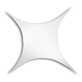 WENTEX® Stretch Shape vierkant stretchdoek 375 cm x 250 cm - wit