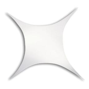 WENTEX® Stretch Shape vierkant stretchdoek 500 cm x 250 cm - wit