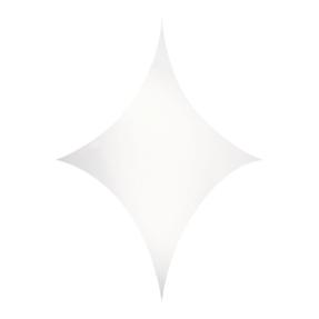 WENTEX® Stretch Shape Diamond 375 cm x 250 cm, wit
